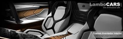 Carlex Design Interior For The Aventador The STORY On LamboCARS Mesmerizing Custom Interior Design Interior