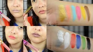 l a splash liquid lipstick imagic mufe flash palette dupe haul mini review swatches you