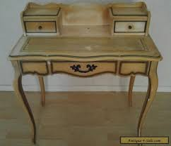 antique hammary french provincial leather top 3 drawer writing desk for