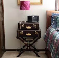 Suitcase Nightstand diy wine station doused in pink chicago fashion lifestyle blog 2256 by guidejewelry.us