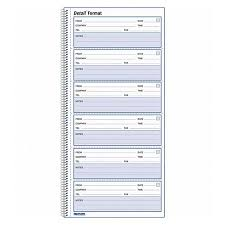 Phone Message Log Book Rediform Red51113 Voice Mail Log Book 1 Each White