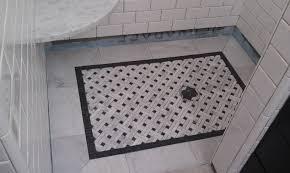basketweave tile bathroom. Barthroom Tile Basket Weave | Modern Marble Basketweave For The Shower Floor With Black . Bathroom E