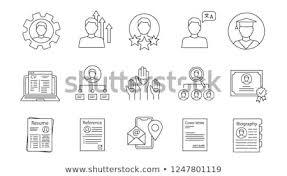 Professional Skill Set Resume Linear Icons Set Professional Skills Stock Vector Royalty