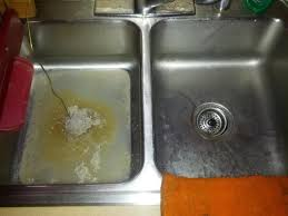 Double Sink Kitchen Clogged On Left Side