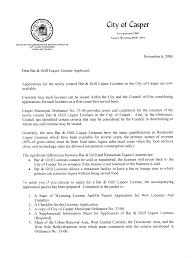 Liquor Licenses And Permits City Of Casper