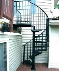 outdoor metal spiral staircase kit for deck exterior stairs