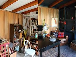 storage shed office. In Need Of A Little Extra Space Or Home Office? One Amazing Blogger Created This So That Her Son Could Study Uninterrupted And Husband Storage Shed Office O