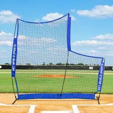 FORTRESS Portable Pop-Up L-Screen Fortress 7ft x   Net World Baseball