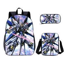 Anime <b>Mobile Suit</b> Gundam <b>3D Printing</b> Portfolio School Bag Boys ...