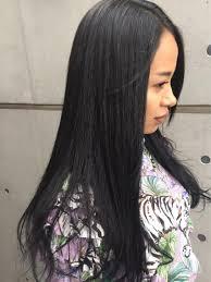 ストレートパーマカラー ジメジメ湿気に負けない髪質へ ブラックカラー