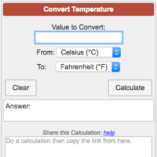 Temperature Conversion Calculator