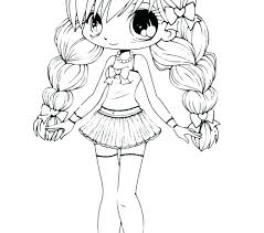 Anime Girls Coloring Pages Sweetestleafco