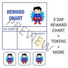Superhero Themed Reward Charts Superman