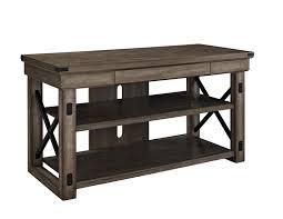 Tv Stands For 50 Flat Screens Amazoncom Ameriwood Home Wildwood Wood Veneer Tv Stand For Tvs