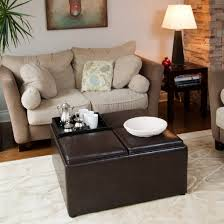 coffee table living room furniture and square black wooden using an ottoman as a coffee table