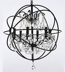 foucault s orb wrought iron crystal chandelier lighting country french 6 lights ht25 x