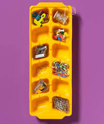 real simple office supplies. ice cube tray as office supply organizer real simple supplies