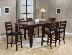 7 pc furniture barlow dining room set table w leaf 6 chairs new counter