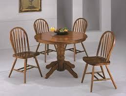 Ella Honey Oak Round Pedestal Dining Table Set