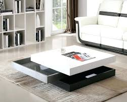 rotating coffee table modern rotary coffee table round swivel coffee table white