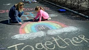 <b>Rainbows</b> are popping up outside homes across LI to spread positivity