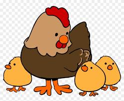 cute hen clipart. Exellent Hen Cute Chicken Clipart  Cartoon Hen And Chicks Intended E
