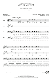 sheet music for kids kids in america arr deke sharon choral satb sheet music by by kim