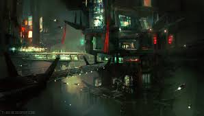 t r napper gorgeous galleries of science fiction and fantasy art blade runner city amit