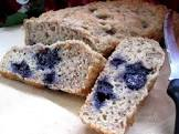 banana   applesauce   blueberry and walnut fat free quick bread
