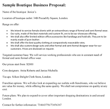 sample business proposal boutique business proposal sample