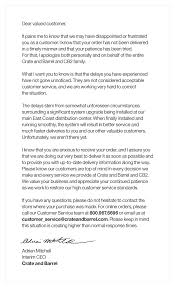 Customer Apology Letter Examples Apology Letter For Customer Letters Font 51