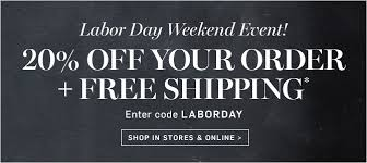 Labor Day Free Online Williams Sonoma Labor Day Weekend Event 20 Off Your Order Free