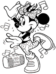 Disney Minnie Mouse Coloring Pages Getcoloringpagescom