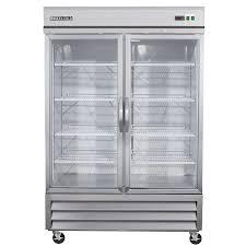 Maxx Cold 48-cu ft 2-Door Merchandiser Commercial Refrigerator (Stainless/ Glass