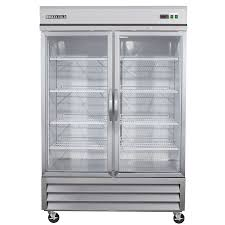 ma cold 48 cu ft 2 door merchandiser commercial refrigerator stainless glass