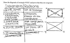 Proving Congruent Diagonals Students are asked to prove that the ...
