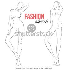 Body Template For Designing Clothes Womens Figure Sketch Different Poses Template Stock Vector Royalty