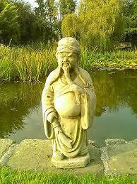 stone garden chinese warrior man