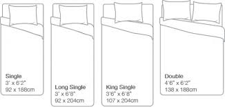 mattress sizes double. Contemporary Double Bed Mattress Measurements Australian Size Chart Sizes