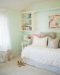 soft wall decoration of the bedroom mint green