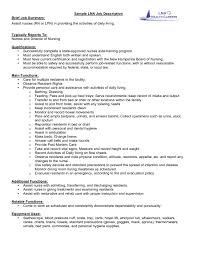 Nanny Job Description Example For Resume Experience Examples