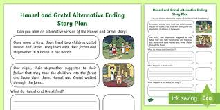 How To Plan A Story Template Hansel And Gretel Alternative Ending Story Planning Template