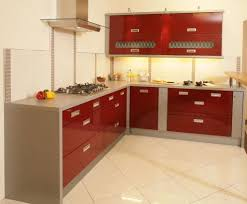 Red Kitchen Furniture Kitchen Modern Red Kitchen Cabinet With Black And Gray Backsplash