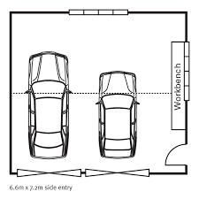 single car garage size australia designs
