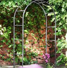 garden structures metal arches the