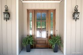 front door and sidelights entryway with exterior french door