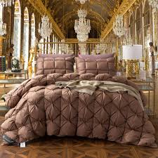 100 cotton comforters with cotton filling. Contemporary Comforters Brown W365 Filling Duck Down Comforter Set Handwork 100 Cotton Twin  Queen King 1 Pieces And 100 Cotton Comforters With