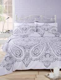 rapport soha paisley oriental ethnic duvet cover bedding set mono noir bb textiles bb textiles