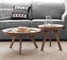 moraga round coffee table pottery barn