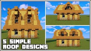 Cool Minecraft Roof Designs 5 Simple Minecraft Roof Designs